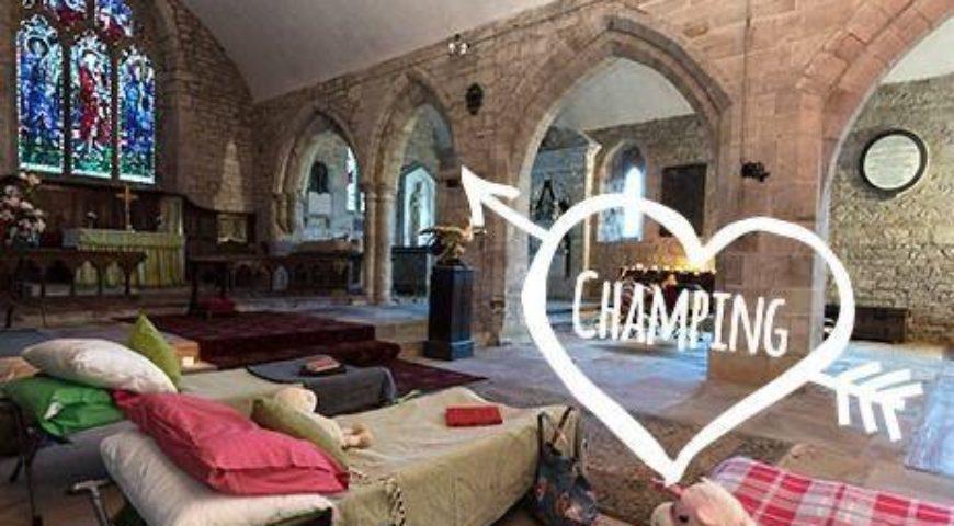 Champing Weekend (sleep in an ancient church)